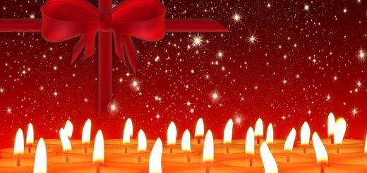 Christmas Gift and Candles