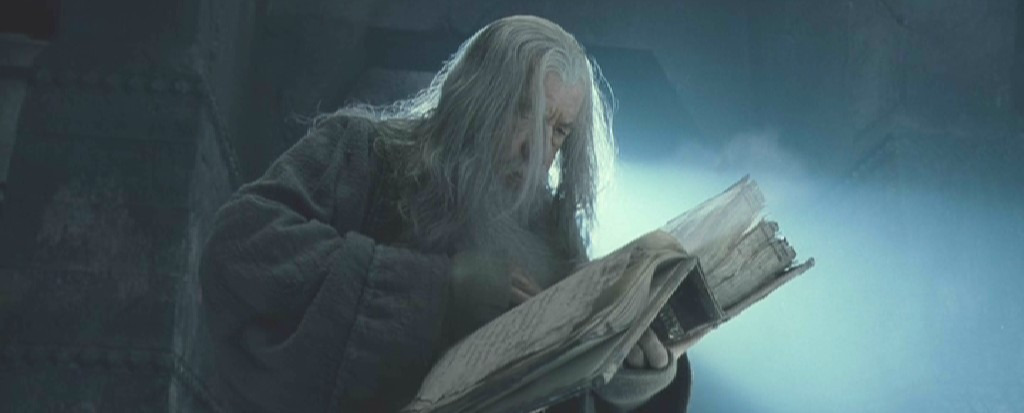 Gandalf with Book
