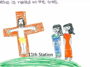 Kid-created Digital Stations of the Cross to Share with Your Students