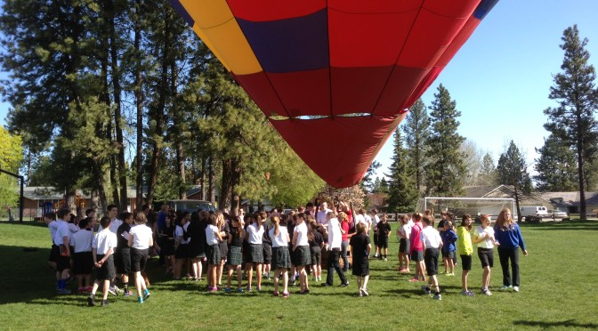 Catholic School Hot Air Balloon