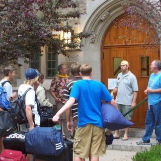 Arriving at Notre Dame