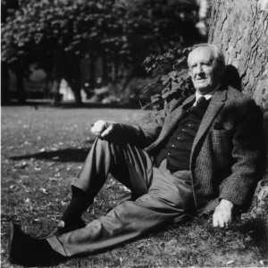 Tolkien Relaxing Under a Tree