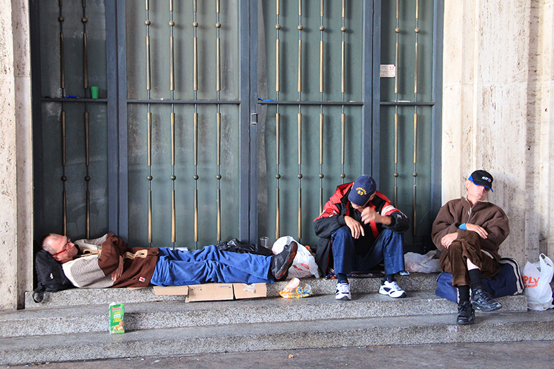 Homeless in Rome