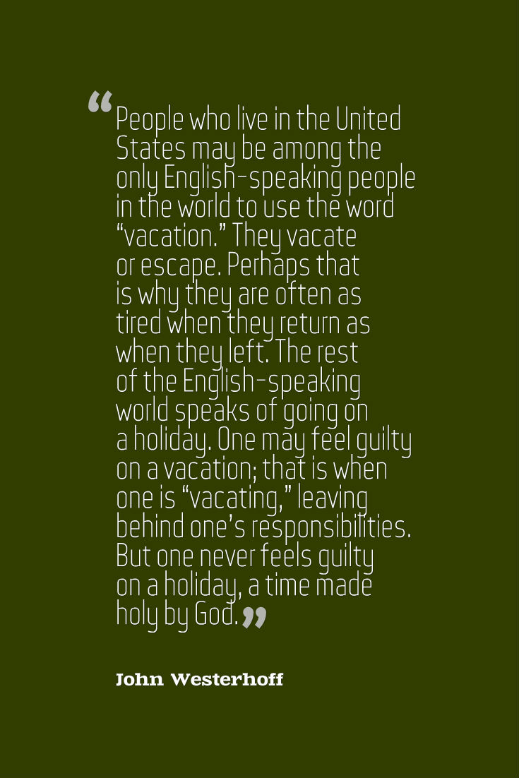 Westerhoff Vacation Quote