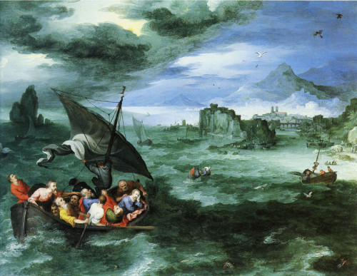 Jan Brueghel the Elder - Christ Calming Storm
