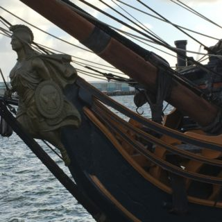 Figurehead of HMS Surprise