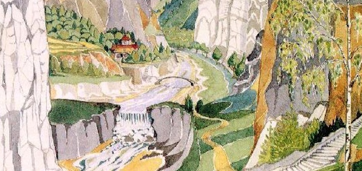 Rivendell, detail by J.R.R. Tolkien