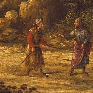 Road to Emmaus by Roghman