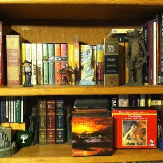 Tolkien Books on Shelf