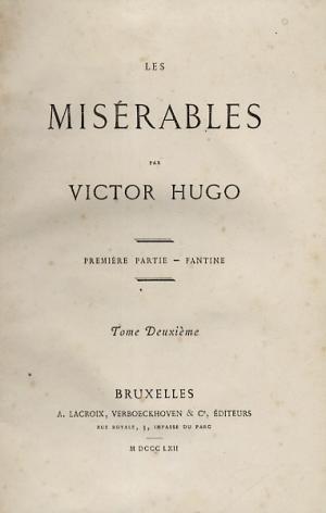 Les Misérables First Edition Title Page