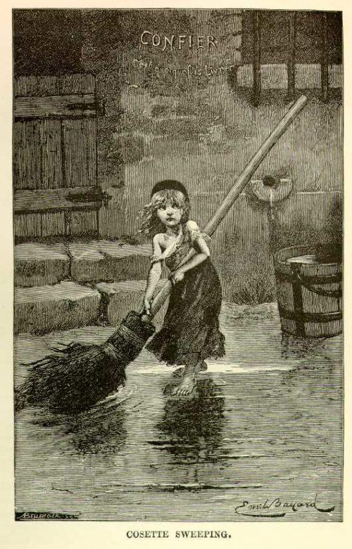Émile Bayard - Cosette Sweeping